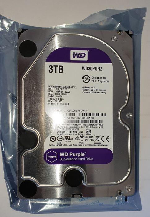 """Dysk Twardy 3 TB, 3,5 """" model WD30PURZ WDPURZ Purple Sosnowiec - image 1"""