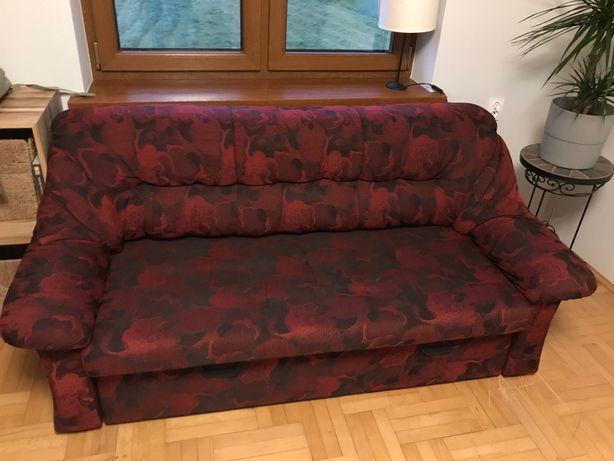 Sofa trójka + fotel z funkcja spania
