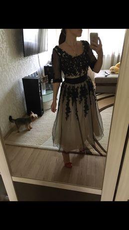 Платье расшитое бисером