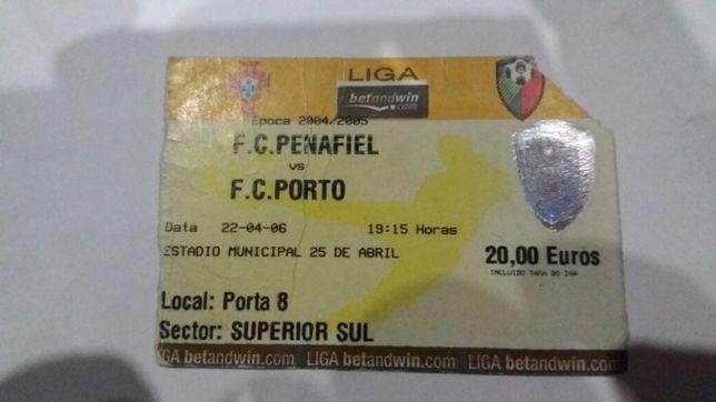 bilhete futebol porto época 2004 consagração campeão