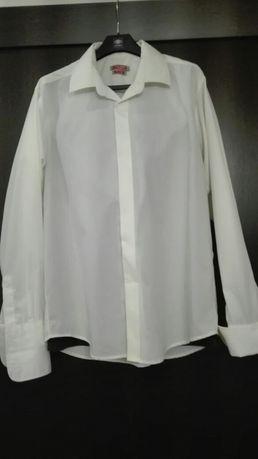 Koszula k śmietankowy + spinki