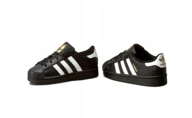 adidas Superstar czarne buty unisex 32 20cm