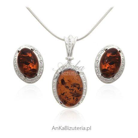 ankabizuteria.pl tanzanit kolczyki Biżuteria z bursztynem - Komplet b