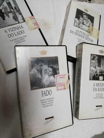 Cassetes VHS filmes portugueses
