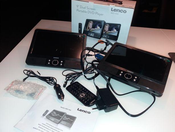 """Lenco Dual Screen DVD 9"""" przenośny DVD pilot adaptery do zagłówka"""