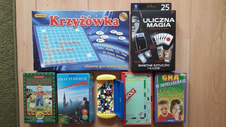 Zestaw 7 gier od 6 lat, stan bdb