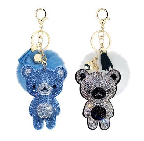 Porta-chaves Pompom com urso