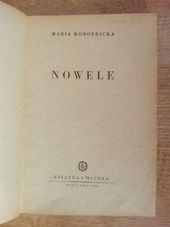 maria konopnicka NOWELE wydanie 1949 r