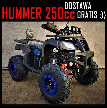 Dostawa GRATIS Quad ATV XTR New Hummer 200/250 cc ,Pług, Mocny, Promo