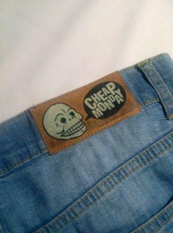 Spodnie jeansy Cheap Monday oldschool meskie blue vintage lee gap zara