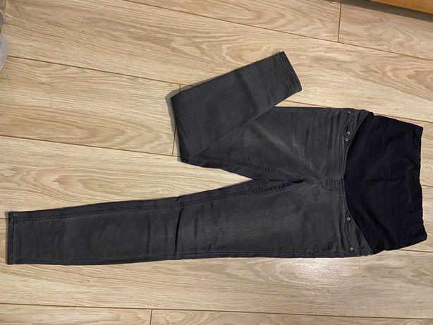 Jeansy spodnie ciążowe H&M rozmiar S szare skinny jeans wysoki stan
