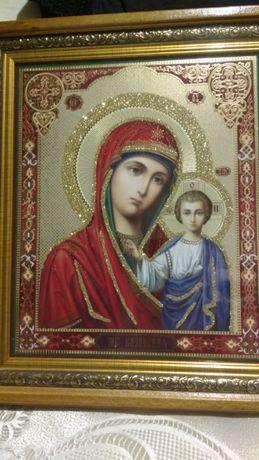 Икона Казанской божьей матери из Святогорского монастыря