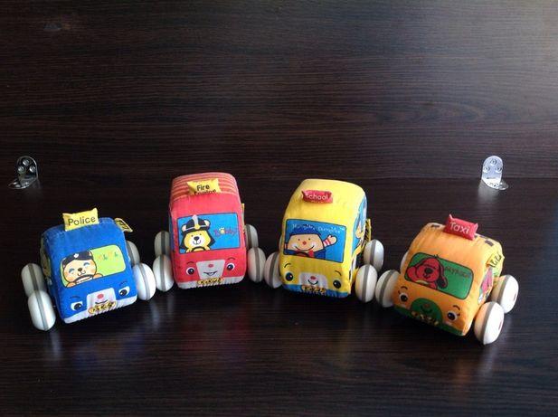 Безопасные мягкие инерционные Машинки K's Kids 4 шт