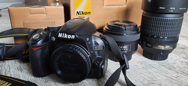 Aparat lustrzanka Nikon D3100 + obiektywy 18-105mm + 50mm 1.8
