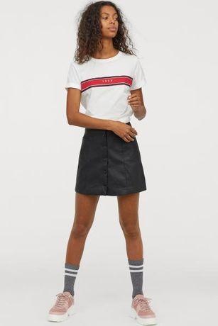Нова шкіряна спідниця юбка h&m розмір 6 (38)