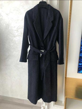 Женское темно-синее шерстяное двубортное пальто Acne Studios
