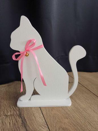 Kotek, dekoracja stojąca, ręcznie robiony