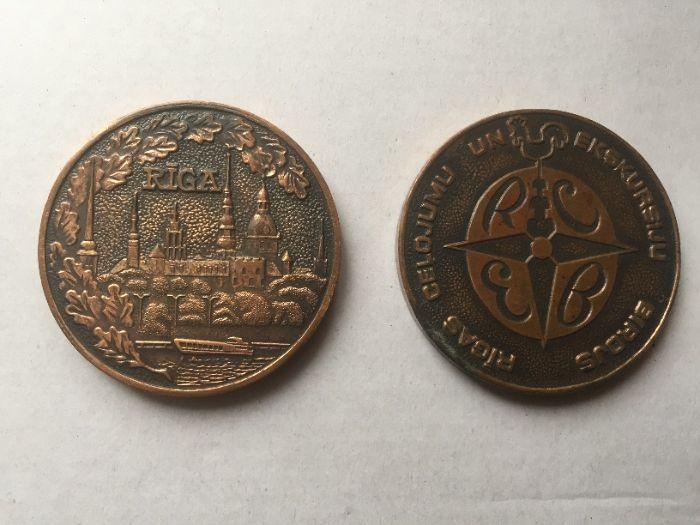 Памятные медали города Рига - 80-е годы (вес 120 гр. - одна) Киев - изображение 1