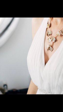 Suknia ślubna ecru rozmiar 36