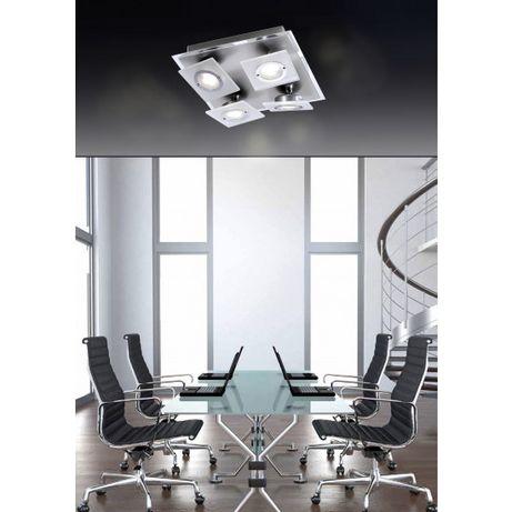 Nowoczesna lampa ROTATOR LED Paul Neuhaus 8030-95 szkło chrom satyna