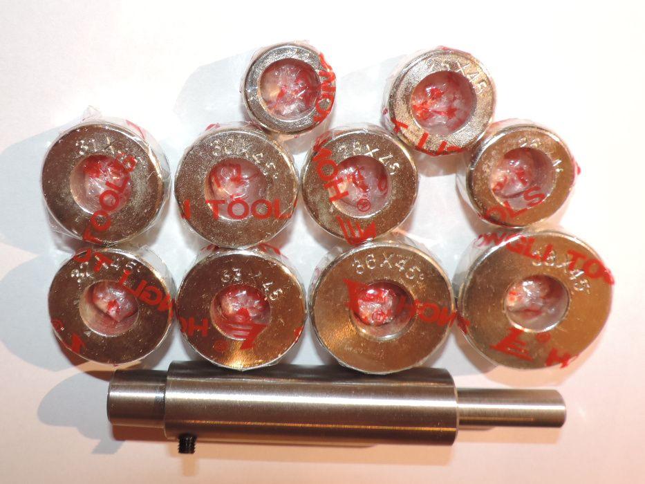 Frezy gładziki do gniazd zaworowych 45 stopni zestaw