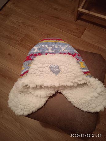 Шапочка зимняя, шапка ушанка тёплая на девочку 2,3, 4 года
