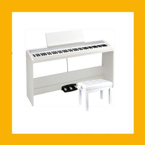 KORG B2 WH SP Pianino cyfrowe ława do pianina