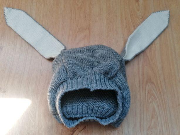 Urocza czapka z uszami, królik rozm 6 - 24 mies.