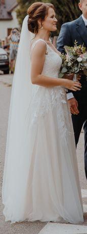 Suknia Ślubna + długi welon