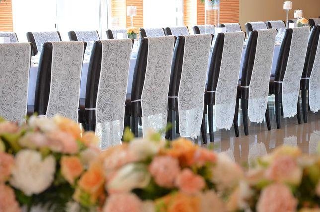 Półpokrowce na krzesła - weselne