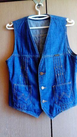 Kamizelka jeansowa Wrangler vintage retro