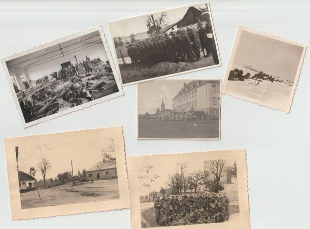 Stare zdjęcia Wehrmacht zestaw 6 fotografii