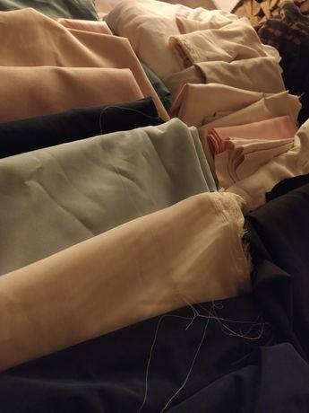 Mix tkanin, materiałów na ubrania