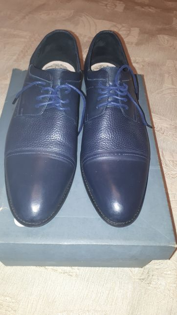 Мужские кожаные туфли, шнуровка, р.44, стелька 29см