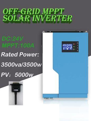 Inversor Híbrido sem baterias 3500W 24V 100A MPPT WiFi