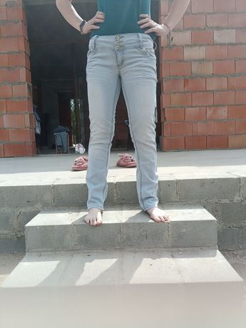 Spodnie jeansy jasne L/XL