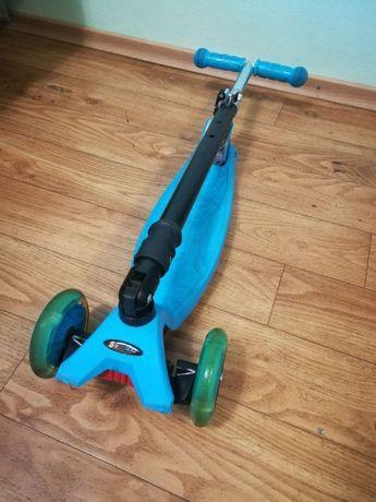 Самокат детский раскладной Scooter с светящимися колесами