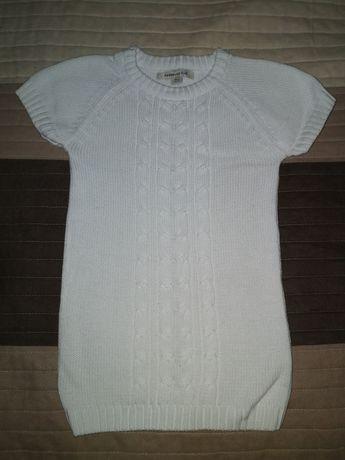Tunika swetrowa ciepła biała RESERVED KIDS rozm. 116