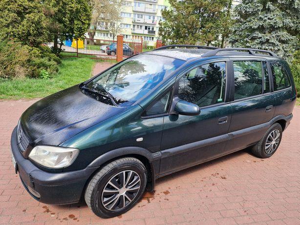 Opel Zafira 1.6 16V GAZ Sek. Klima 7 Osobowa Ważne opłaty Stan Tech BD