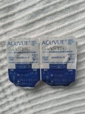 Soczewki kontaktowe acuvue oasys -9 dwie sztuki