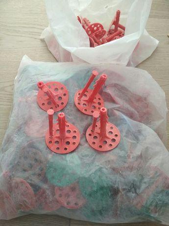 Дюбель тарельчатый с пластиковым гвоздем