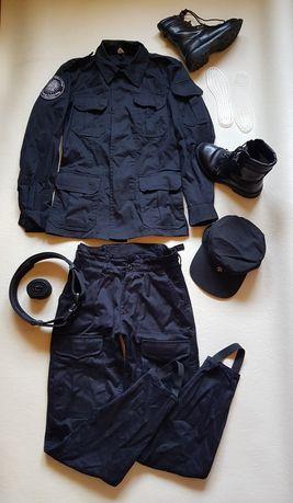 Mundur damski Służba w policji Klasa mundurowa + Buty Komplet