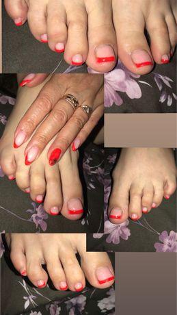 Покрытие ногтей гель-лаком,наращивание