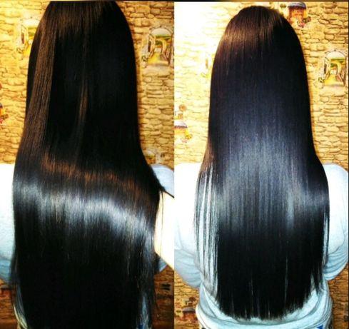 Кератиновое выпрямление волос. Ботокс волос. Профессиональный уход.
