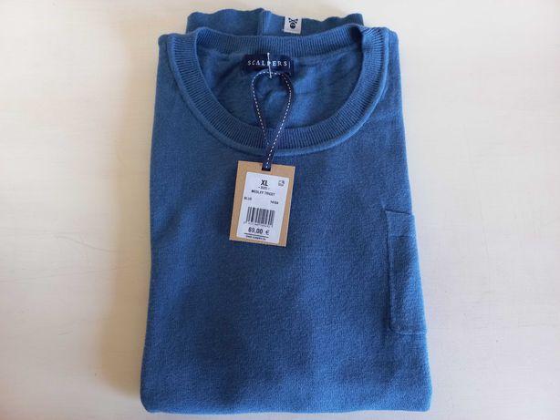 SCALPERS Sweater Algodão/Poliamida/Seda - Tamanho XL - Cor Azul