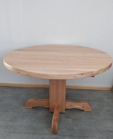 Stół drewniany jesion okrągły noga krzesła ikea
