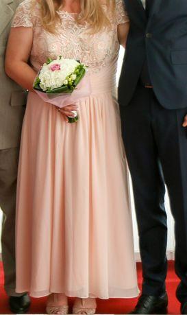 Suknia ślubna plus size 48/50 perłowy róż z USA z JJhouse