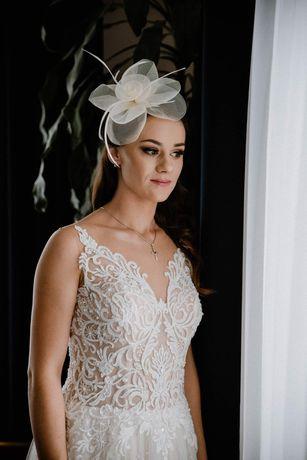 Suknia ślubna nude + GRATIS toczek