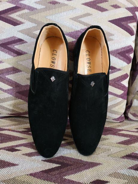 Туфли мужские кожаные замш 43