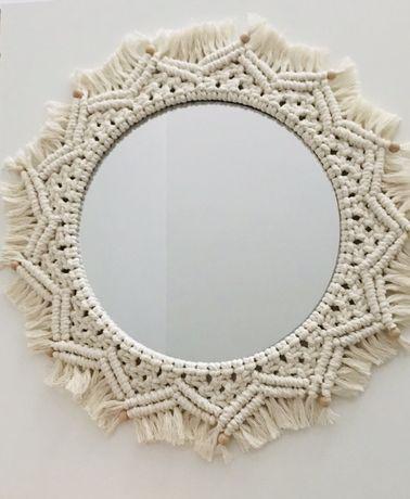 40 cm mandala makrama dekoracja do pokoju handmade